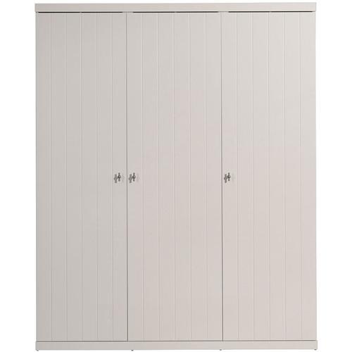 Kleiderschrank Romy 3-trg MDF weiß B 166 cm - H 205 cm - T 57 cm
