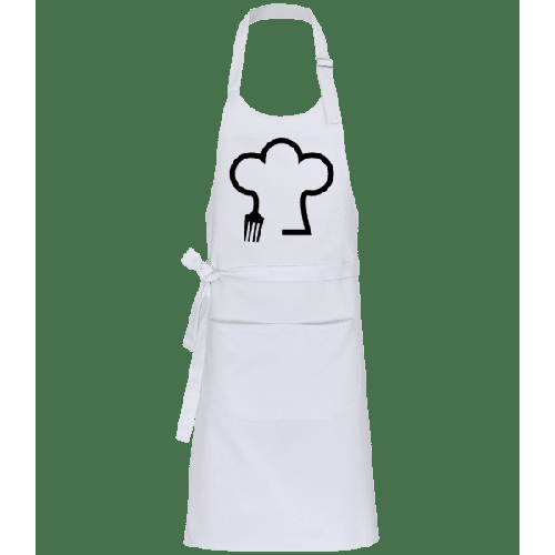 Chefkoch Mütze mit Gabel - Profi Kochschürze