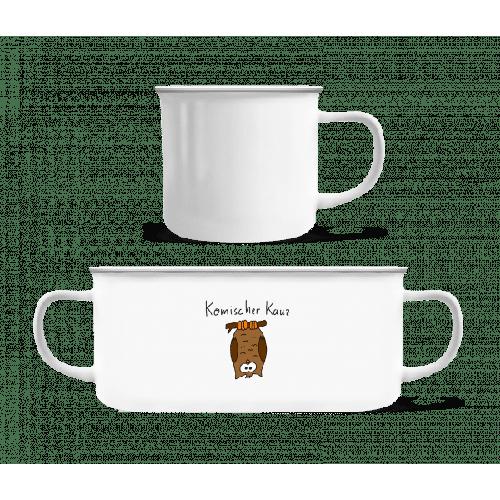 Komischer Kauz - Emaille-Tasse