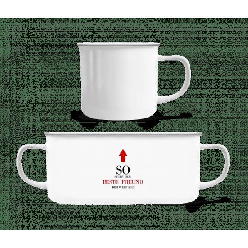 Der Beste Freund Der We - Emaille-Tasse