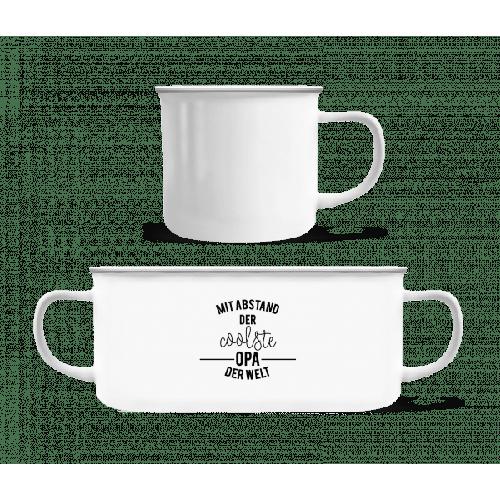 Mit Abstand Der Coolste Opa - Emaille-Tasse