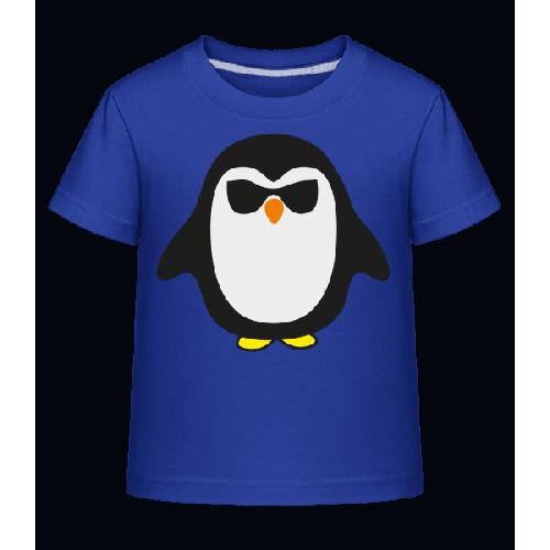 Cooler Pinguin Schwarze Brille - Kinder Shirtinator T-Shirt