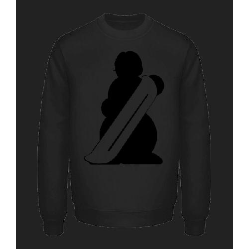 Snowboard Snowman Black - Unisex Pullover