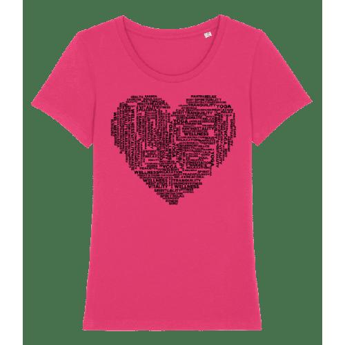 Yoga Herz - Frauen Premium Bio T-Shirt Stanley Stella