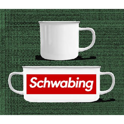 Schwabing - Emaille-Tasse