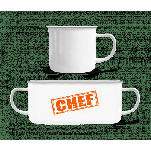 Chef Sign - Emaille-Tasse