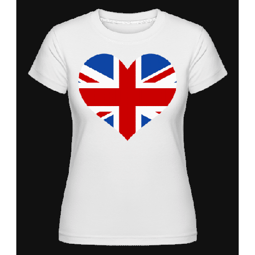 Heartshaped British Flag - Shirtinator Frauen T-Shirt