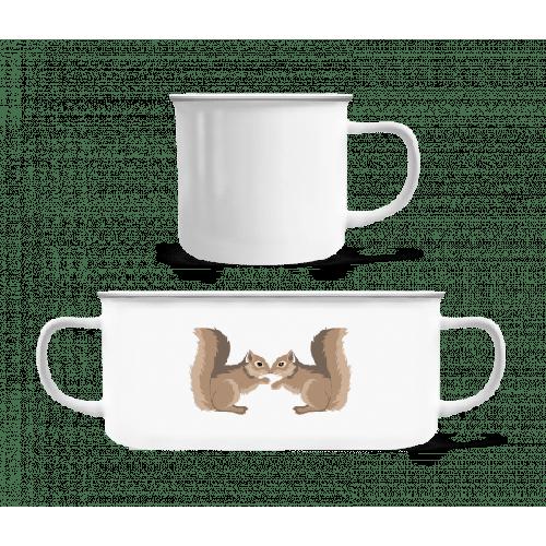 Eichhörnchen - Emaille-Tasse