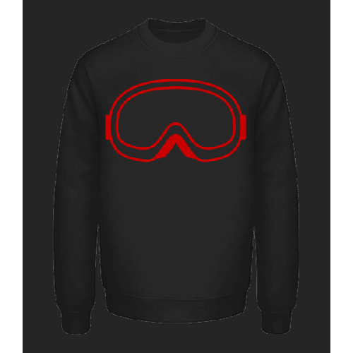 Snowboard Glasses Red - Unisex Pullover