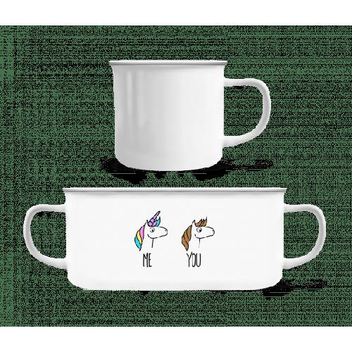 Me You Unicorns - Emaille-Tasse
