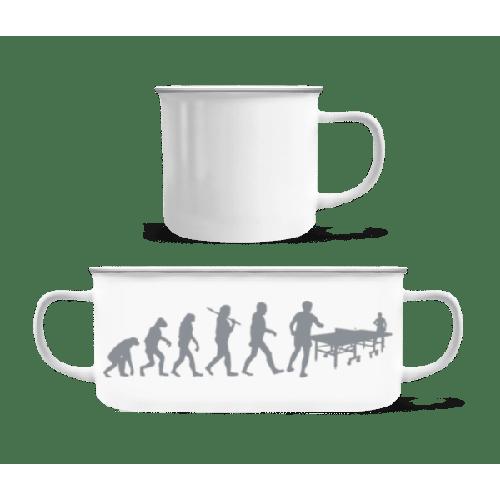 Evolution Des Tischtennis - Emaille-Tasse