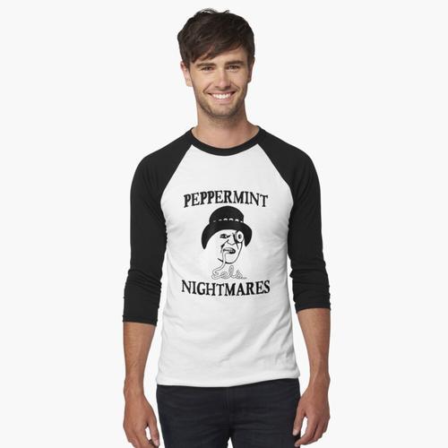 Pfefferminz-Albträume Baseballshirt mit 3/4-Arm