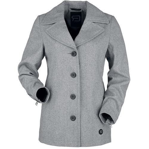 RED by EMP grauer kurzer Mantel zum Knöpfen Damen-Kurzmantel - grau