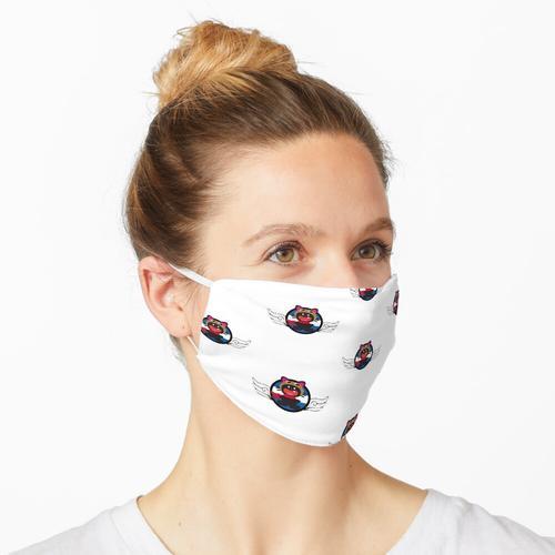 Ein Zahn Black Cat Pilot mit Fliegerbrille Maske