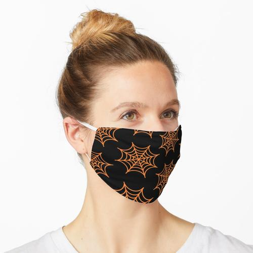 ORANGE SPIDERWEB Maske