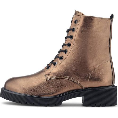Högl, Metallic-Boots in bronze, Boots für Damen Gr. 37