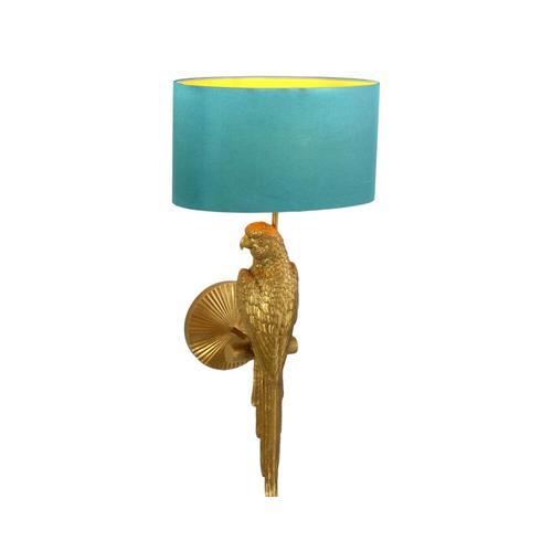 VOSS Design »Percy« Wandleuchte gold-türkis