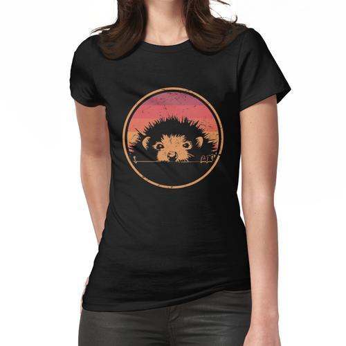Retro Weinlese-Haustier-Igeles Frauen T-Shirt