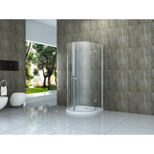 faltbare U-Duschkabine Semio 80 x 80 x 195 cm ohne Duschtasse