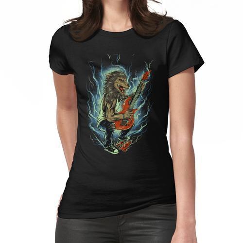 Der Wolf spielt Gitarrenmelodie Frauen T-Shirt