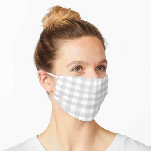 Hellgraues Gingham-Muster Maske