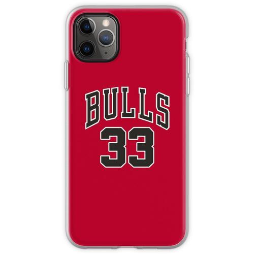 Scottie Pippen Chicago Bulls Trikot Flexible Hülle für iPhone 11 Pro Max