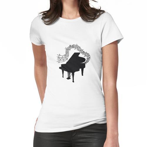Klavier- und Musiknoten Frauen T-Shirt