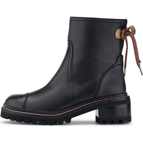 See by Chloé, Luxus-Stiefelette in schwarz, Boots für Damen Gr. 40