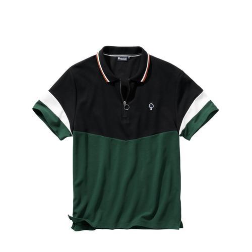 SAS Faguo Herren Polo-Hemd Slim Fit Schwarz steigendes Revers