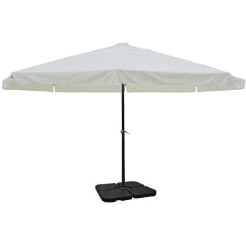 Sonnenschirm Aluminium weiss mit Schirmständer