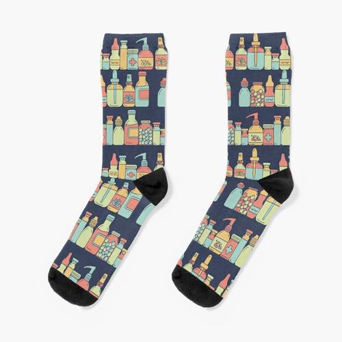 Apothekenflaschen Socken