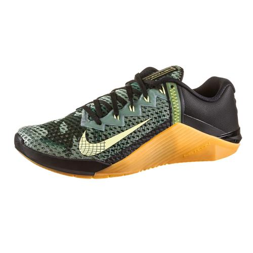 Nike Metcon 6 Fitnessschuhe Herren in black-limelight-limelight-gum med brown, Größe 43