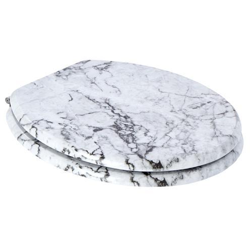 WC-Sitz Marmor in Marmor-Optik grau WC-Sitze WC Bad Sanitär
