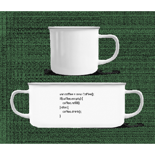 PHP Coffee - Emaille-Tasse