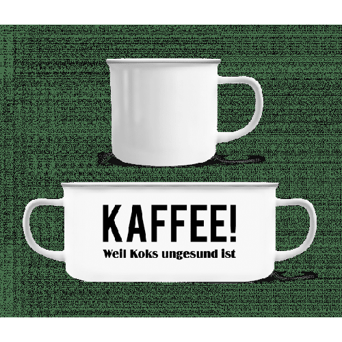 Kaffee Statt Koks - Emaille-Tasse