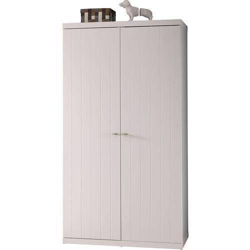 Kleiderschrank Romy 2-trg MDF weiß B 110 cm - H 205 cm - T 57 cm