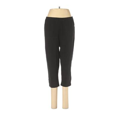 Woman Within Casual Pants - High Rise: Black Bottoms - Size Medium