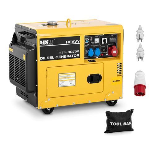 MSW Notstromaggregat Diesel - 4.400 W - 14,5 L - 230/400 V MSW-DG700