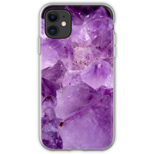 lila Kristallenergie Flexible Hülle für iPhone 11