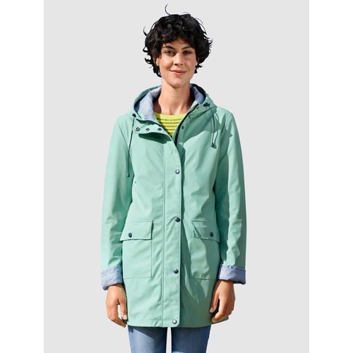 Dress In Regenjacke, mit Kapuze grün Damen Regenjacken Anoraks Jacken Mäntel Regenjacke