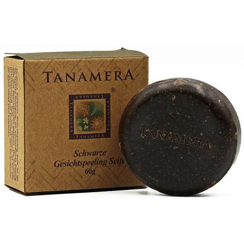 Tanamera Schwarze Gesichtspeeling-Seife 60 g Stückseife