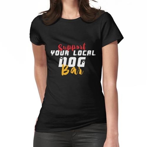 Dog Bar T-Shirts, Funny Dog Mom, Erkennungsmarken, Hund und Grill Frauen T-Shirt