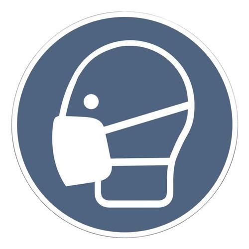 Aufkleber »Maskenpflicht« Ø 10 cm, 10 Stück, OTTO Office