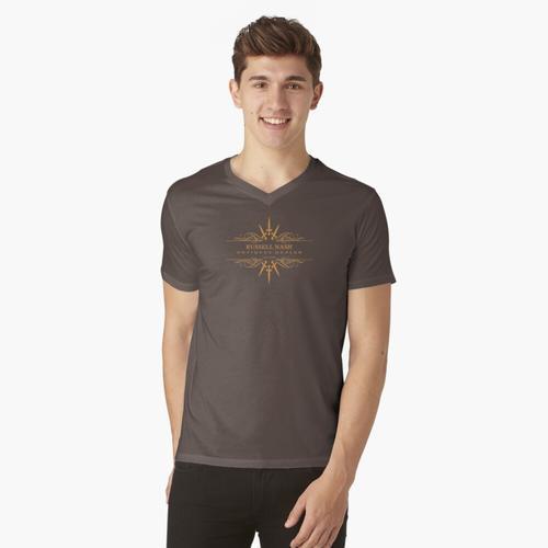Russell Nash Antiquitäten v2 t-shirt:vneck