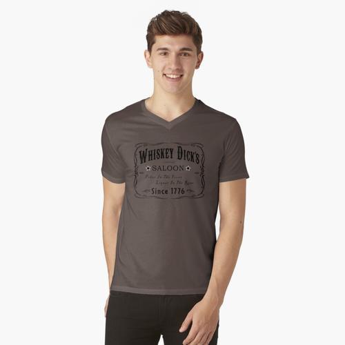 WHISKY DICKS SALOON t-shirt:vneck