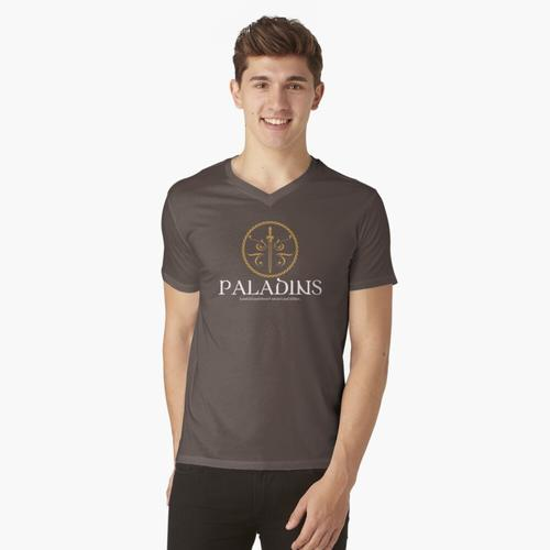 Paladin Paladins Tabletop RPG Addict t-shirt:vneck