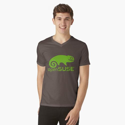 openSUSE Linux t-shirt:vneck