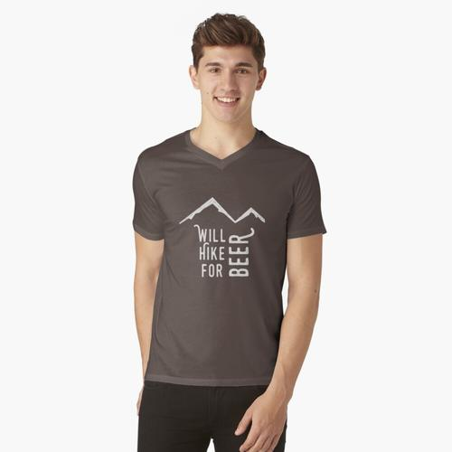 Will für Bier wandern t-shirt:vneck