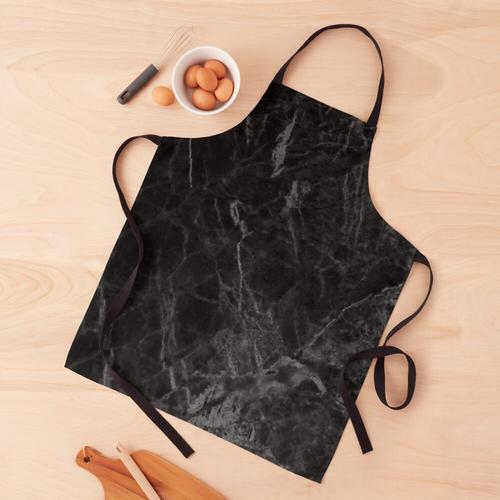 Luxus mattschwarzer Marmor Schürze