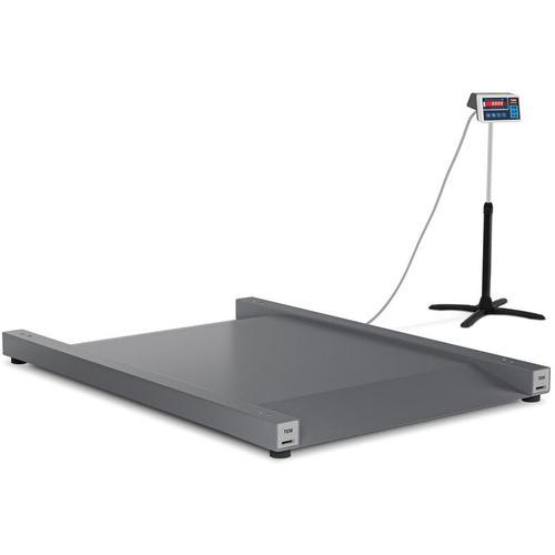 TEM - Bodenwaage geeicht LED Schwerlastwaage Durchfahrwaage Digital Waage 600 kg/200 g